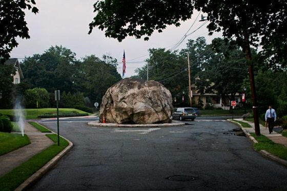"""The Rock"" in Glen Rock that I've run past countless times. (It was recently featured in National Geographic! Wahoo)"
