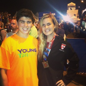 Post-race with my brother TJ!
