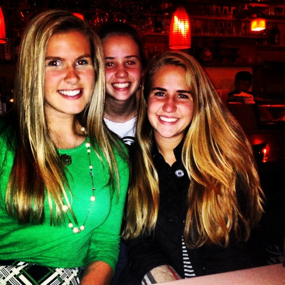Out to dinner in Boston with Kaitlin and Lilly (her awesome little sister)!