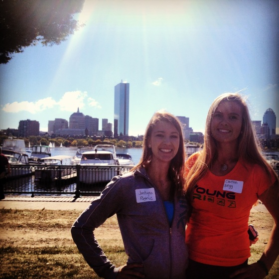 My roommate Justyna and I at the Walk to End Alzheimer's!