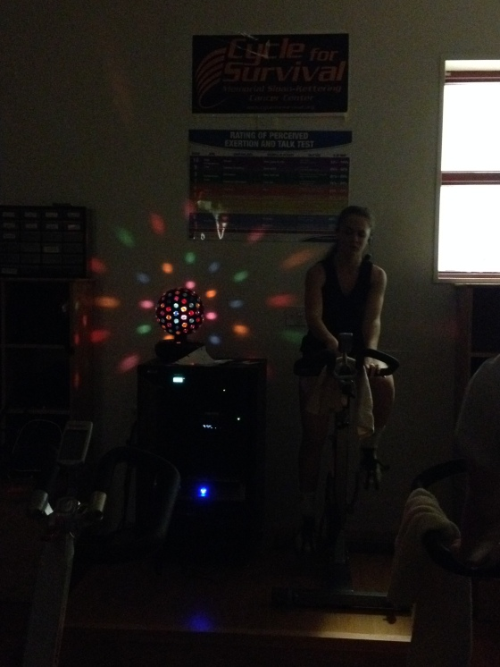 Brooke teaching spin tonight