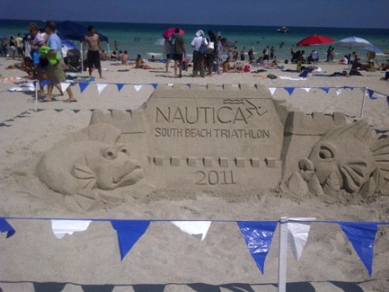 Sand sculpture at the Nautica South Beach Triathlon!