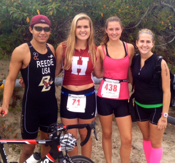 Ryan, Caity, Stephanie, and I at Buzzard's Bay Triathlon in September