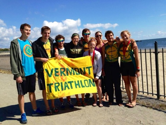 The UVM Triathlon Team at  the Westchester Triathlon!