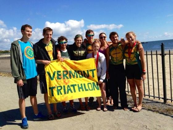 The UVM Triathlon Team at  the Westchester Triathlon!