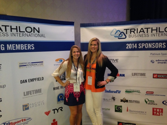Kaitlin and I learned so much about the sport at the TBI Conference!